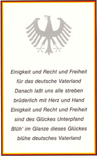 Deutsche Nationalhymne Verbot